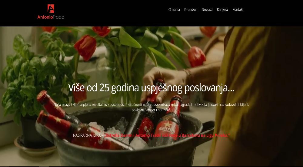 Web stranica Antonio Trade Grude