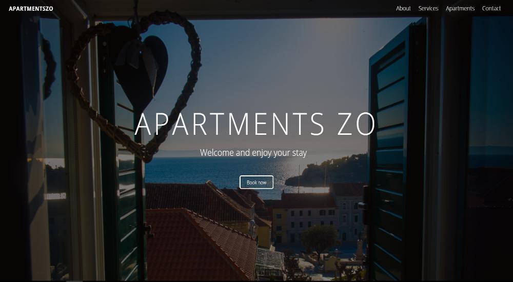 Web stranica ApartmentsZO Makarska