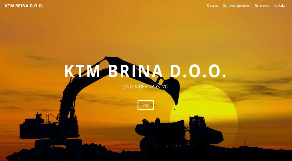 Web stranica KTM Brina Posušje
