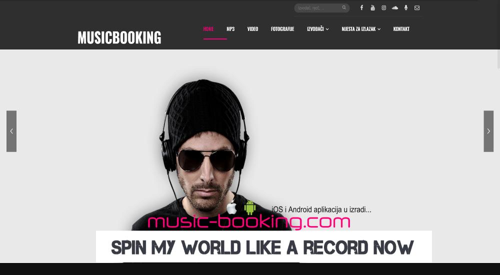 Web aplikacija MUSICBOOKING
