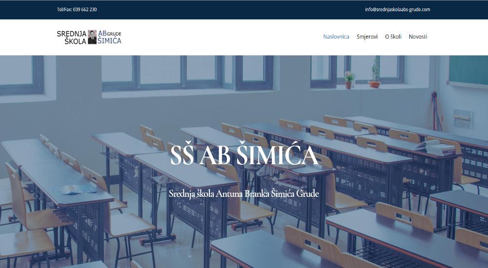 Web stranica Srednja škola ABŠ Grude