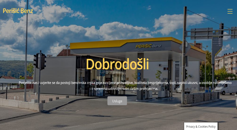 Web stranica Perišić Benz